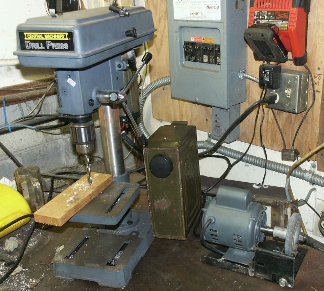Treadmill Motor On Drill Press Pillar Drill Mig