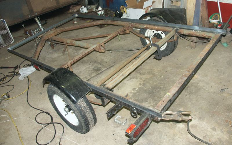 How to build a boat trailer frame for Outboard motor dolly harbor freight