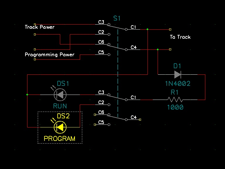 wiring a 4pdt toggle two functions and two led s electronics diode can be any 1n400x or 1n4148